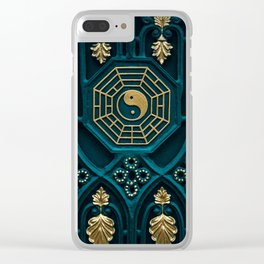 Leo Abstract Background Clear iPhone Case