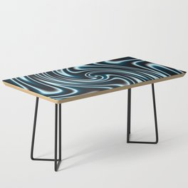 Blue and Black Licorice Ribbon Candy Fractal Coffee Table