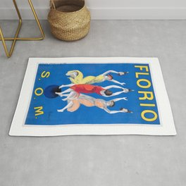 1911 Florio S.O.M. Wine French Advertising Poster Rug