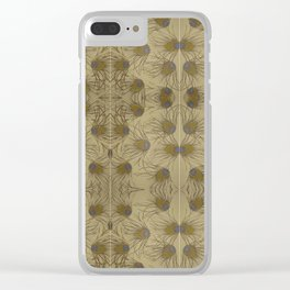 peacock feathers Clear iPhone Case