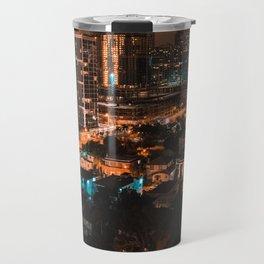 Biscayne Buildings Night Travel Mug