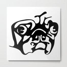 Pug Mug Metal Print