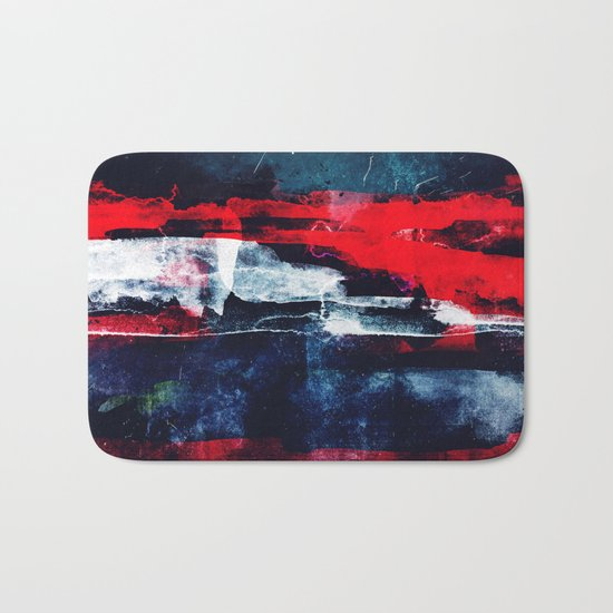 Red white and blue Bath Mat