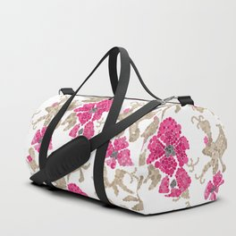 Pointillism. Flowers Duffle Bag