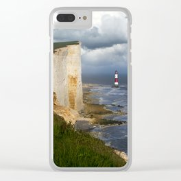 White and red lighthouse Clear iPhone Case