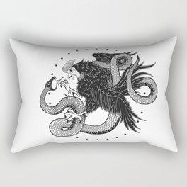 Rooster vs Snake Rectangular Pillow