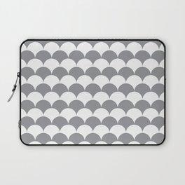 Grey Fan Shell Pattern Laptop Sleeve