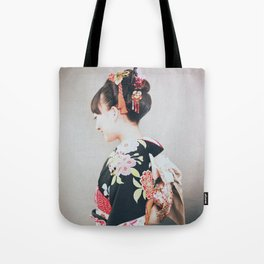 Woman japanese style Tote Bag