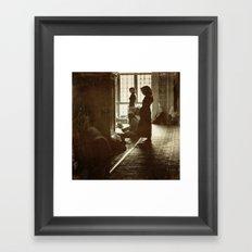 Women praying in Istanbul Framed Art Print