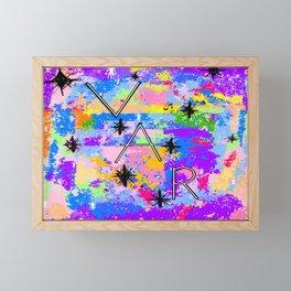 VAR Bright Framed Mini Art Print