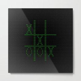 Retro 8-Bit pixel Computer Game Metal Print
