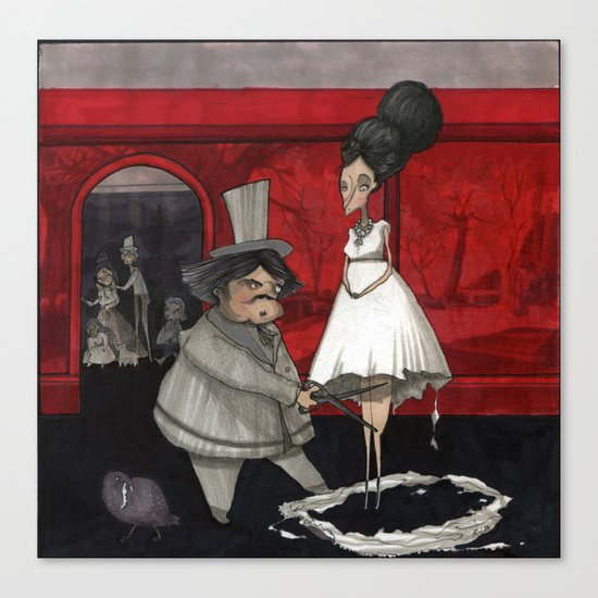 The Dressmaker. Canvas Print