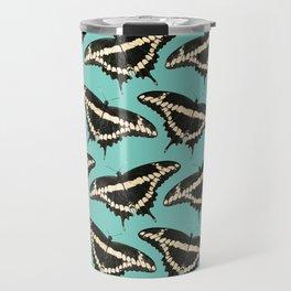 Butterfly Illustrated Pattern Print Travel Mug