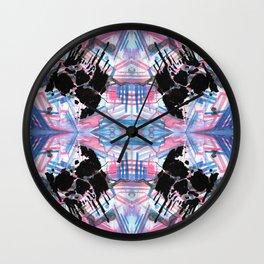 Dripping Kaleido-Skull Wall Clock