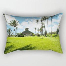 Lanakila 'ihi'ihi O Iehowa O Na Kaua Church Keanae Maui Hawaii Rectangular Pillow