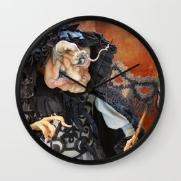 Rucus Studio Late to the Party - Pumpkin Lady Wall Clock