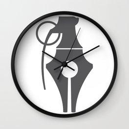 Penade (Pen + Grenade) Wall Clock