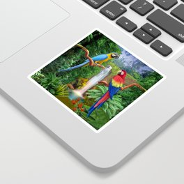 Macaw Tropical Parrots Sticker