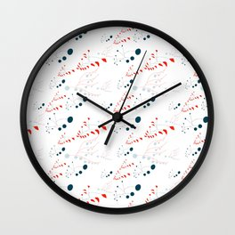 pattern B Wall Clock