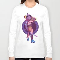 gladiator Long Sleeve T-shirts featuring Street Warriors - Gladiator by Mike Wrobel