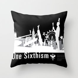 One Sixth Ism (White World) Throw Pillow