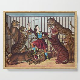 The Lion Queen - Vintage Circus Art, 1873 Serving Tray