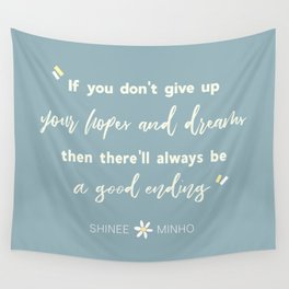SHINEE Minho Quote Wall Tapestry