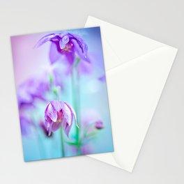 Violet flowers Stationery Cards