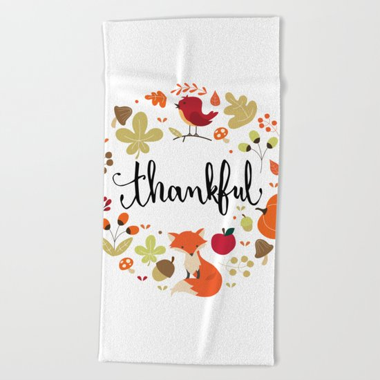 THANKFUL Beach Towel