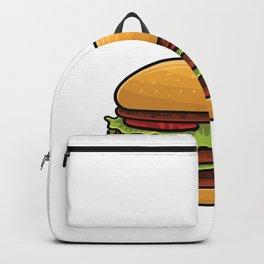 Just a Boy who likes Hamburger Backpack