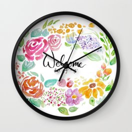 Welcome; Don't Stay Long Wall Clock