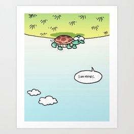 I am flying Art Print