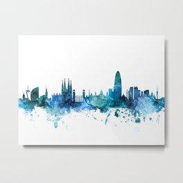 Barcelona Spain Skyline Metal Print