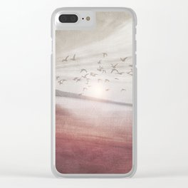 Positive sunset II Clear iPhone Case