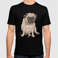 Fat Pug X-LARGE Mens Fitted Tee Black