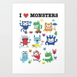 Monster Love Art Print