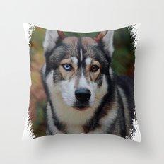 Husky 3 Throw Pillow