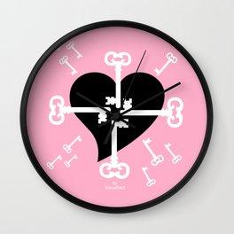 open your heart Wall Clock