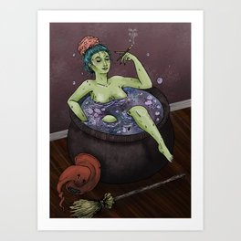 Witch Bath Art Print