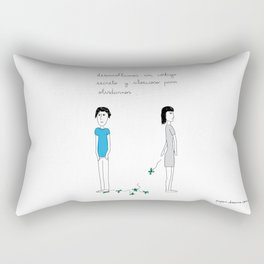 Secret Code to Forget Rectangular Pillow