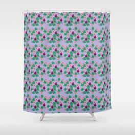 Little geraniums Shower Curtain