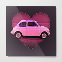 The Neon PInk 500 Car Lover Metal Print