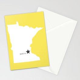 Minnesota North in Lemon Stationery Cards