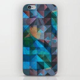 triangular shapes of power iPhone Skin