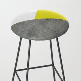Concrete vs Corn Yellow Bar Stool