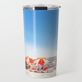 Cape May Umbrellas Travel Mug