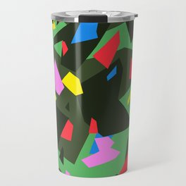 Green\Red\Blue\Black\Grey\Pink Geometric camo Travel Mug