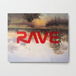 RAVE Metal Print