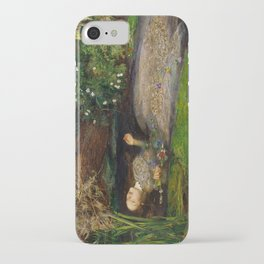 Ophelia from Hamlet Oil Painting by Sir John Everett Millais iPhone Case