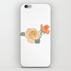 Handdrawn Roses iPhone & iPod Skin